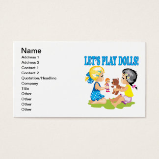 Lets Play Dolls Business Card