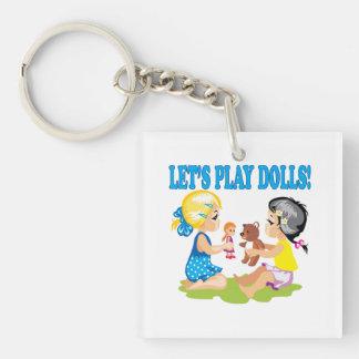 Lets Play Dolls Keychain