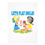 Lets Play Dolls Personalized Invites