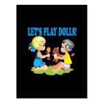 Lets Play Dolls Postcard