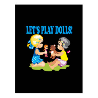 Lets Play Dolls Postcard