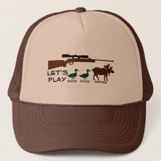 Lets Play Duck Duck Moose Trucker Hat