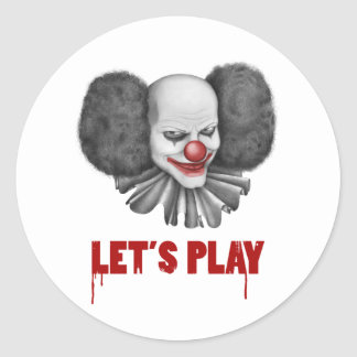 Let's Play Gift Classic Round Sticker