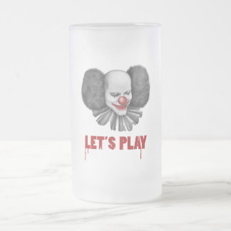 Let's Play Gift Frosted Glass Beer Mug