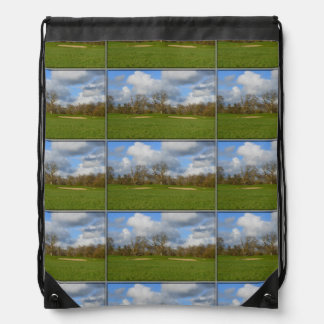 Let's Play Golf Drawstring Backpack