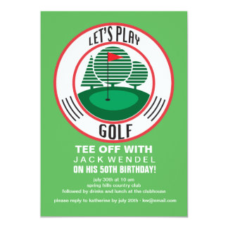 Let's Play Golf Invitation