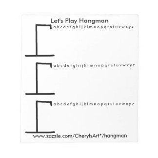 Let's Play Hangman 3 Games per Sheet Notepads