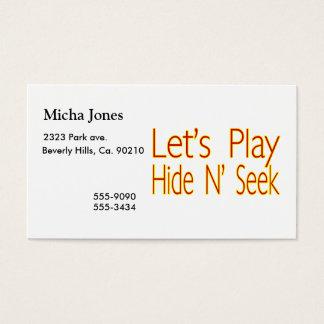 Lets Play Hide N Seek Business Card