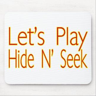 Lets Play Hide N Seek Mouse Pad