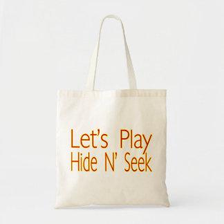 Lets Play Hide N Seek Tote Bag