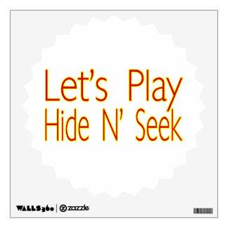 Lets Play Hide N Seek Wall Sticker