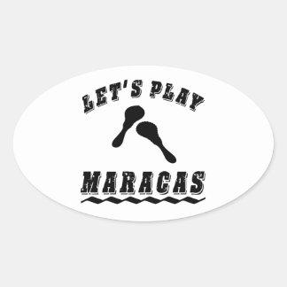 Let's Play Maracas Sticker