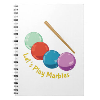 Let's Play Marbles Spiral Note Book