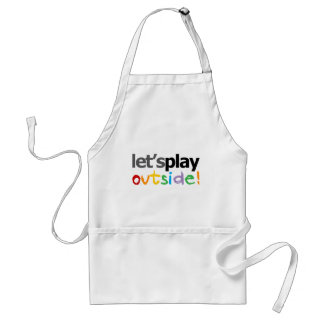 Let's Play Outside! Adult Apron