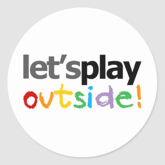 Let's Play Outside! Classic Round Sticker