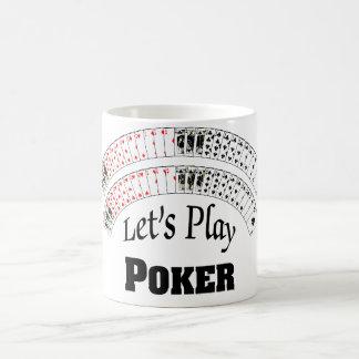 """Let's Play Poker"" Cup/Mug Classic White Coffee Mug"