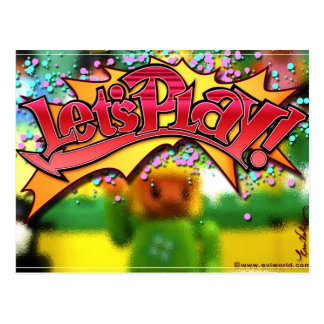 Let's Play! Postcard