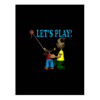 Lets Play Postcard