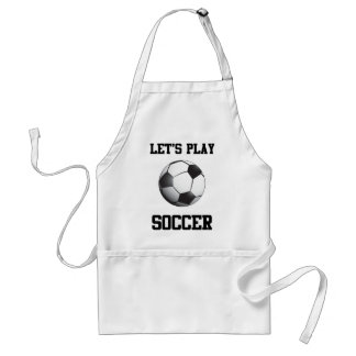Let's Play Soccer Adult Apron