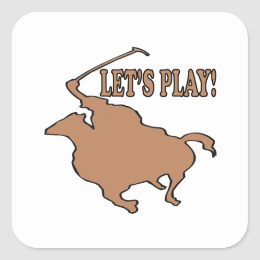 Lets Play Square Sticker