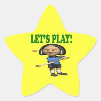 Lets Play Star Sticker