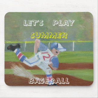 LET'S PLAY SUMMER BASEBALL MOUSE PAD