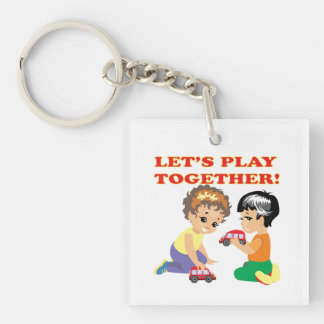 Lets Play Together 2 Keychain