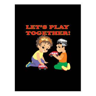 Lets Play Together 2 Postcard