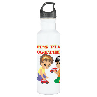 Lets Play Together 2 Stainless Steel Water Bottle