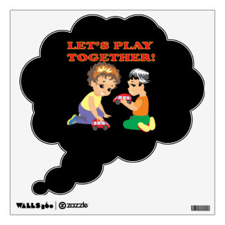 Lets Play Together 2 Wall Decals