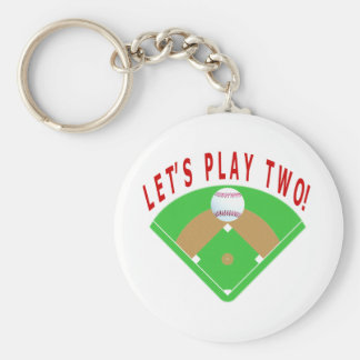 Let's Play Two Baseball T-Shirts & Gifts Keychain