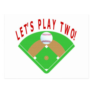 Let's Play Two Baseball T-Shirts & Gifts Postcard