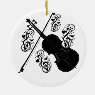 Let's Play,Violin_ Ceramic Ornament