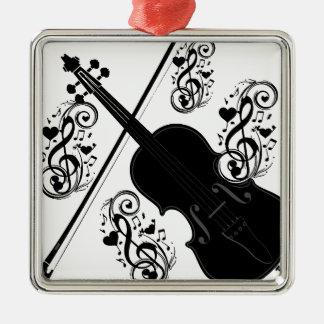 Let's Play,Violin_ Metal Ornament