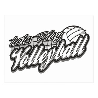 Lets Play Volleyball Postcard