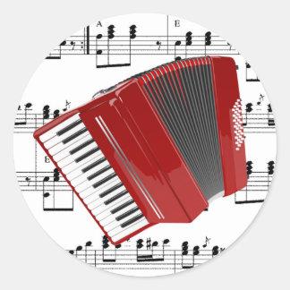Let's Polka Classic Round Sticker