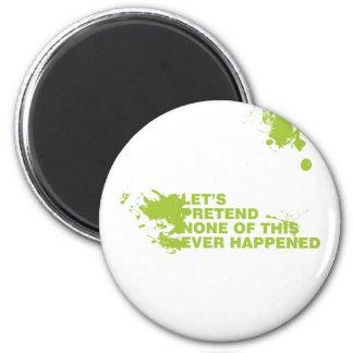 Let's Pretend 2 Inch Round Magnet