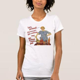 Let's Pretend Ladies Cap Sleeve T T-Shirt