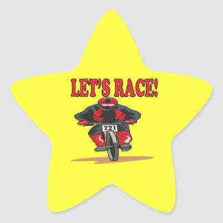 Lets Race 2 Star Sticker