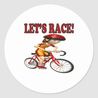 Lets Race 3 Classic Round Sticker