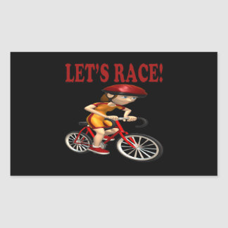 Lets Race 3 Rectangular Sticker