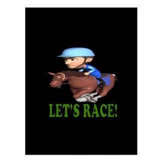 Lets Race Postcard