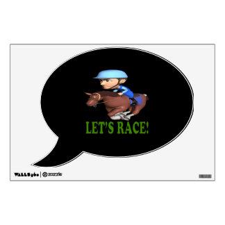 Lets Race Wall Sticker