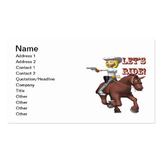 Lets Ride 2 Business Card Template