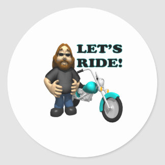 Lets Ride 2 Classic Round Sticker