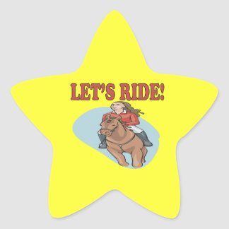 Lets Ride 2 Star Sticker