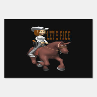 Lets Ride 3 Lawn Sign