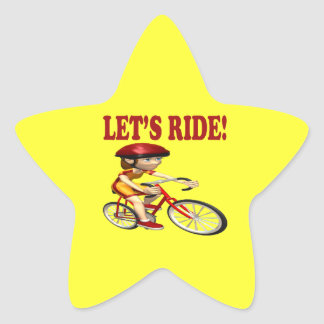 Lets Ride 3 Star Sticker
