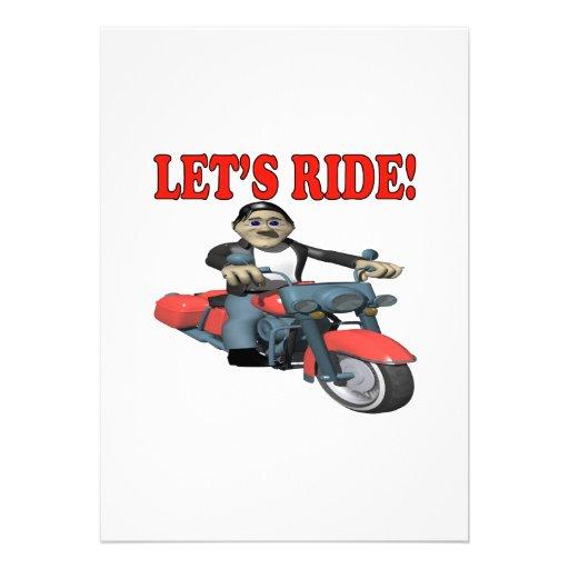 Lets Ride 4 Invitation