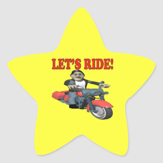 Lets Ride 4 Star Sticker